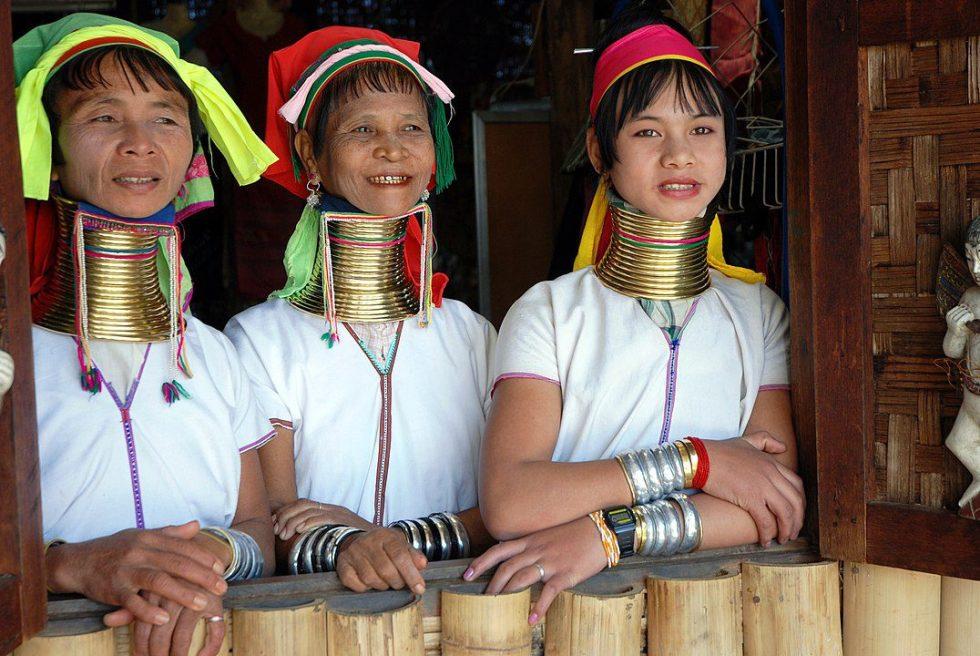 Kayan women in Burma