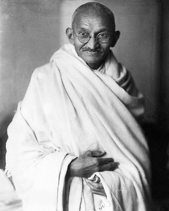 Gandhi lead the successful nonviolent campaign for India's independence from British rule.