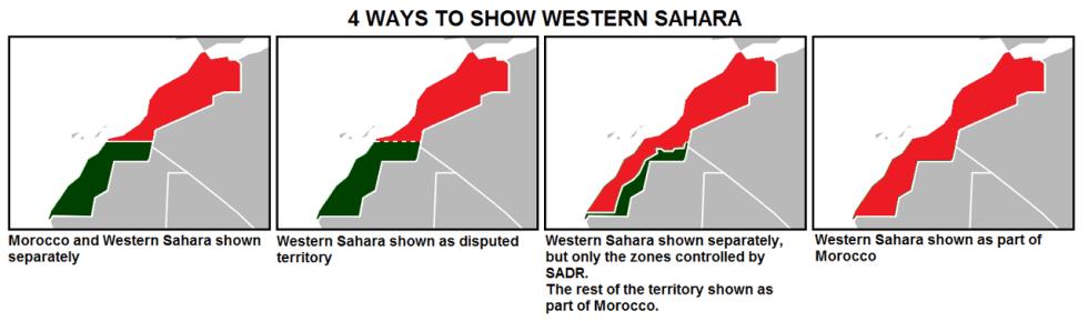 4 ways to show Western Sahara