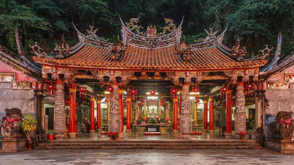Miao-Li, Taiwan: Quanhua Temple, located in the Lion's Head Mountain Scenic Area