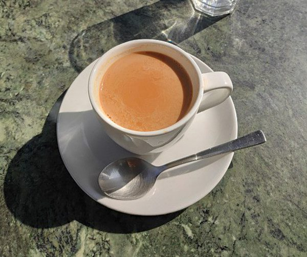 Milk tea is offered to guests as a gesture of welcome and is the most common hot beverage in the country.