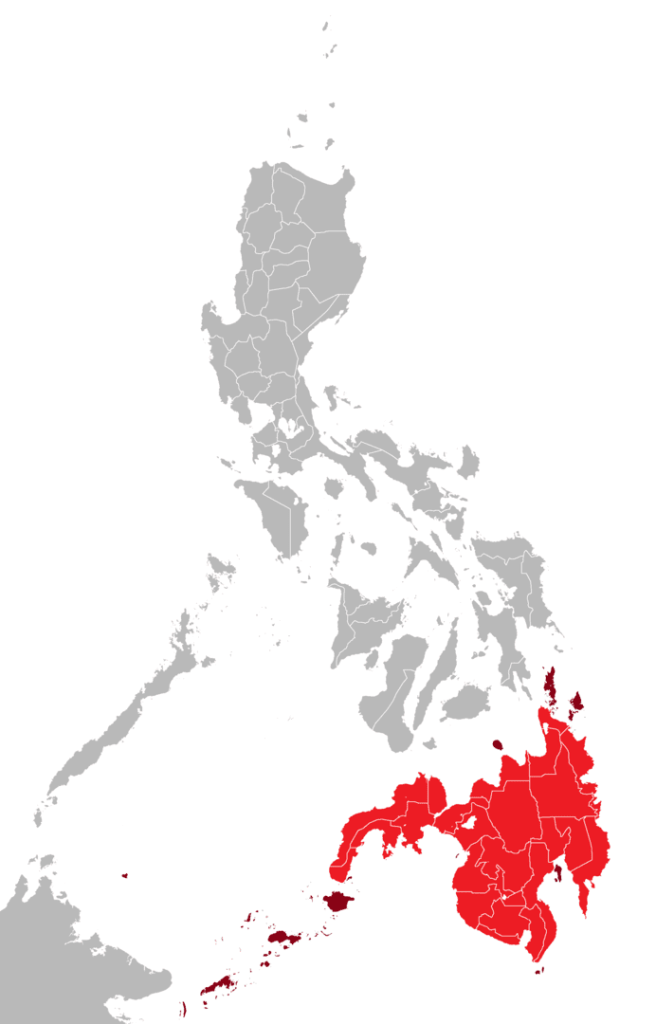 Mindanao (in red)