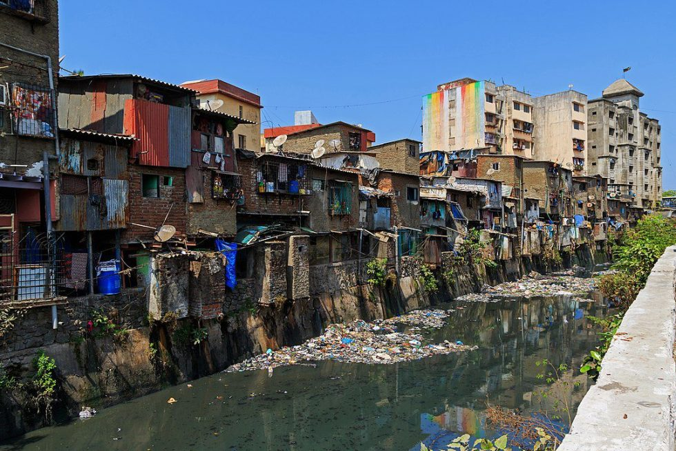 Dharavi settlement (one of the world's largest slums) in Mumbai