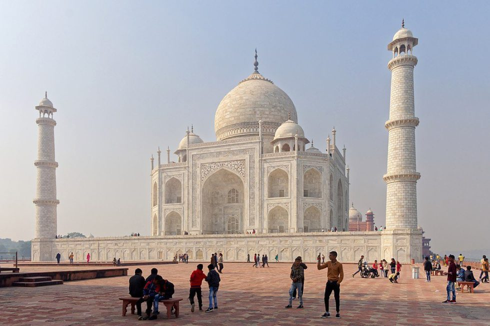 The Taj Mahal is a mausoleum built by a Mughal emperor to house the tomb of his favorite wife.