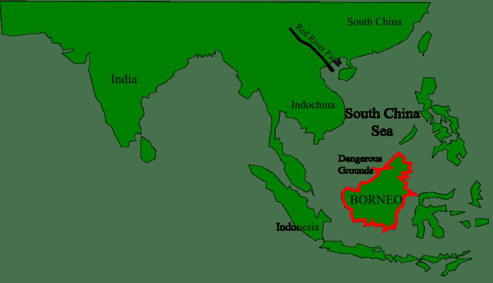 Borneo location