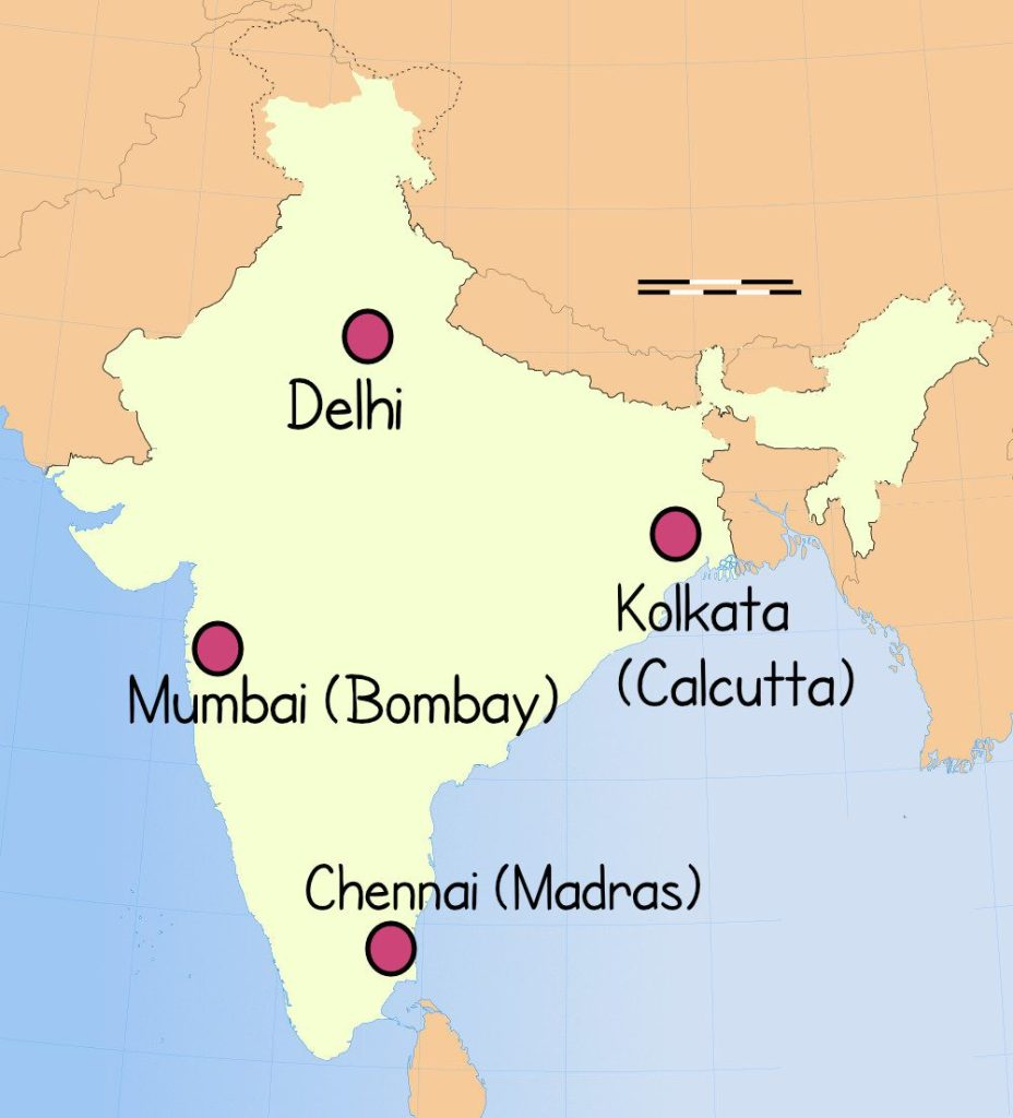 Cities of India with name changes