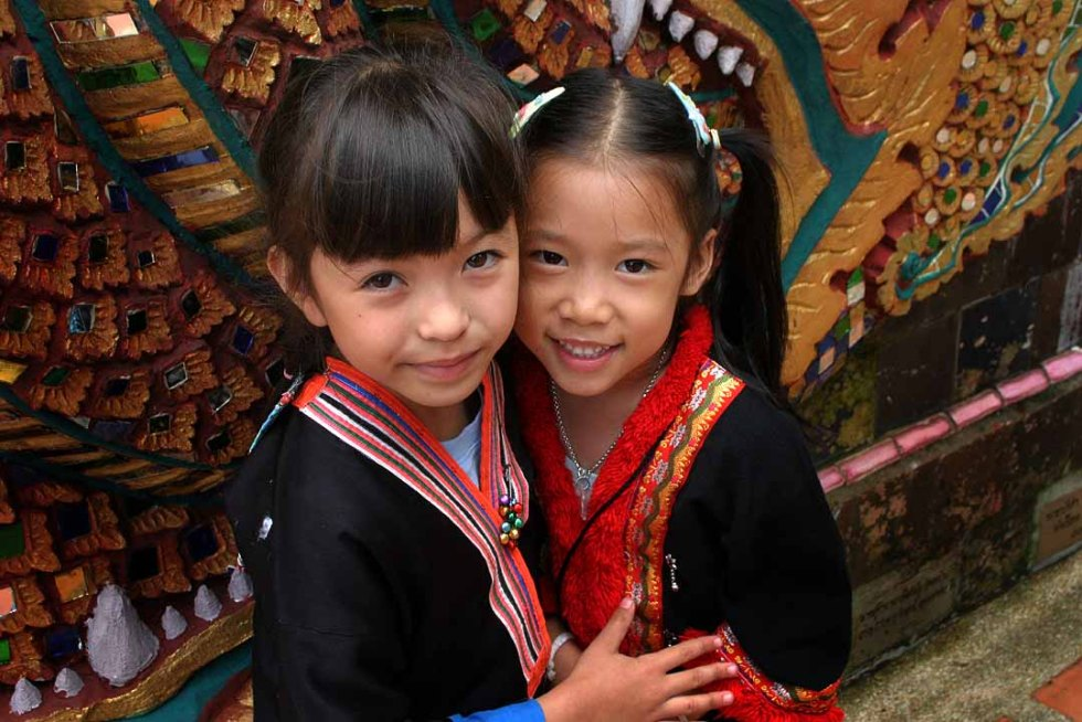 Hill tribes girls in the Northeast of Thailand