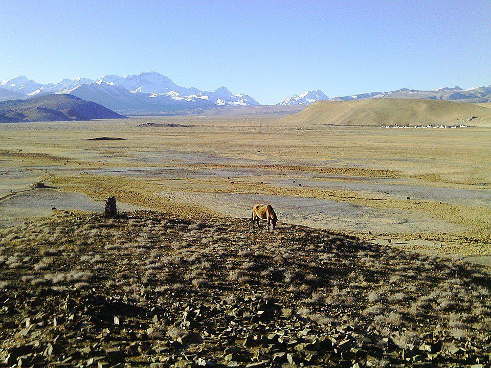 Typical landscape of the Tibetan Plateau
