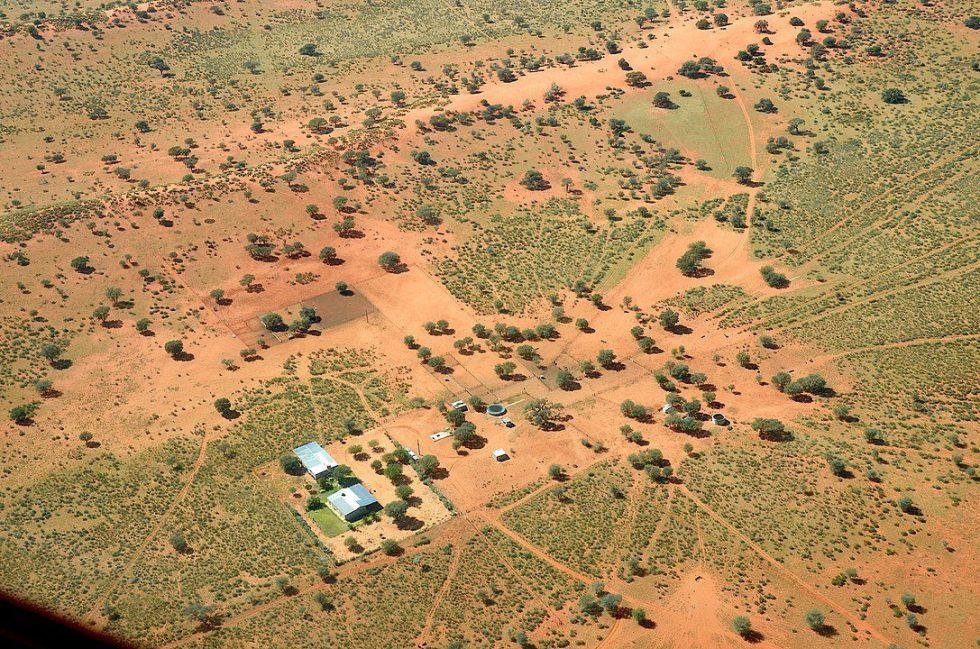 A farm in the Kalahari