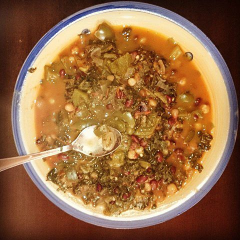 Githeri is made from maize and legumes boiled together.