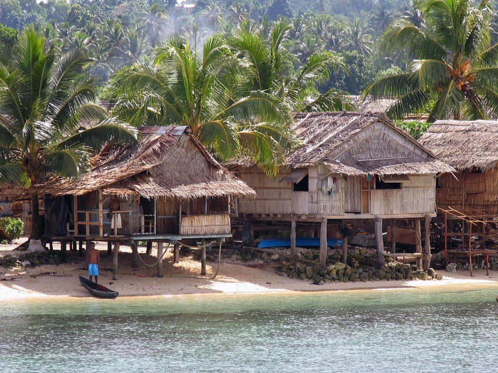 Auki, the capital of Malaita (one of the Solomon Islands)