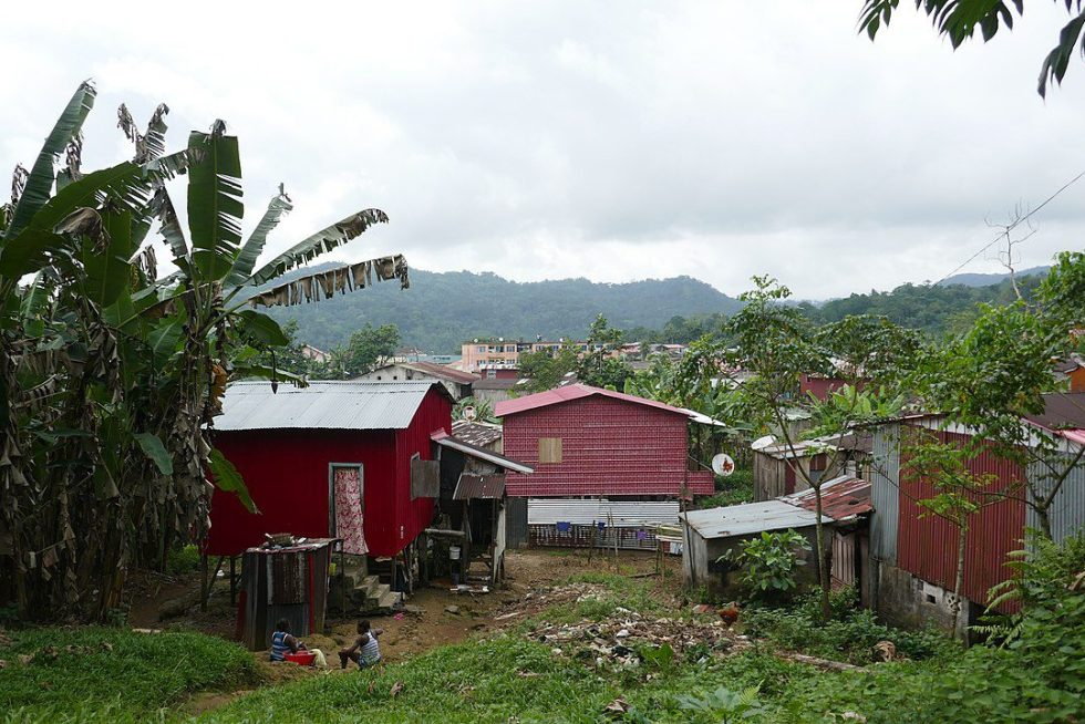 Houses on the island of São Tomé