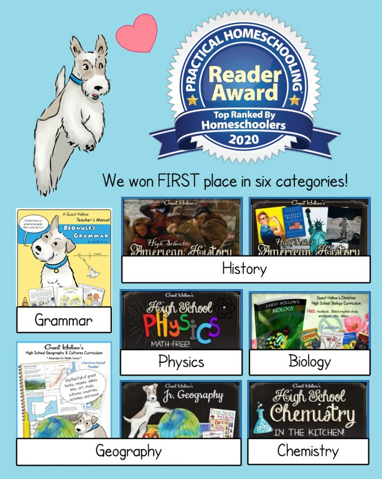 Guest Hollow curriculum won first place in six categories!