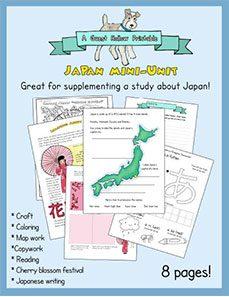 Japan homeschool printables (mini-unit-study)