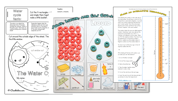 Actions and Reactions free science printables