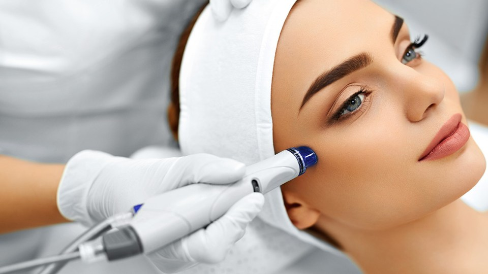Microdermabrasion nonsurgical cosmetic treatment