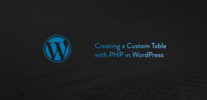 custom table php wordpress