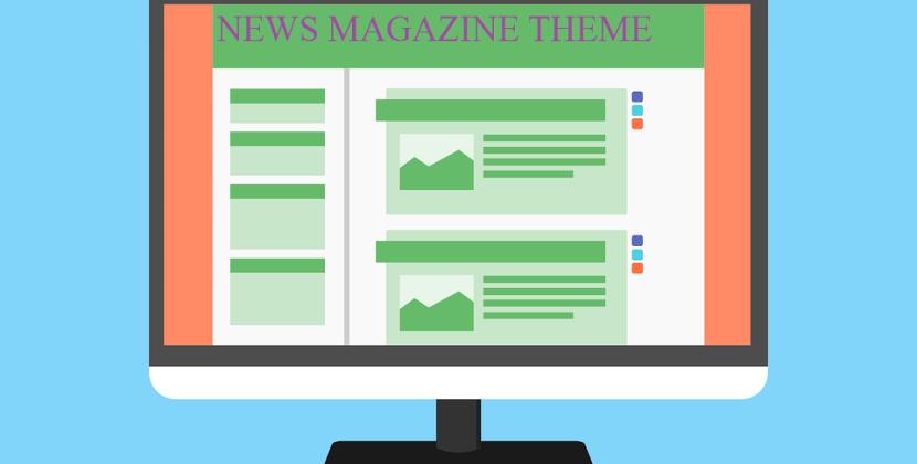 free news magazine wp theme with slider & Ads space