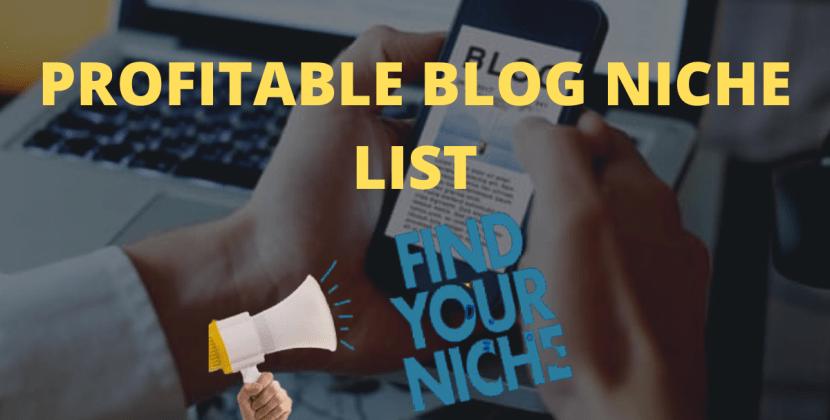 Profitable Blog Niches