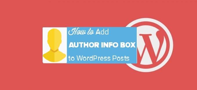 author info box WordPress