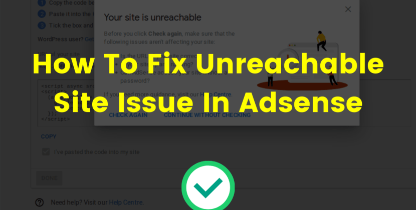 How To Fix Unreachable Site Issue In Adsense