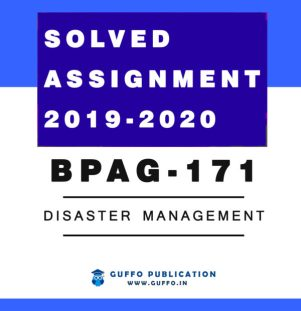 BPAG-171 Disaster Management IGNOU SOLVED ASSIGNMENT 2019 2020