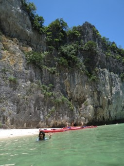 Private beach in Halong Bay
