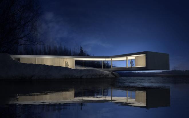 Casa sobre paisaje - llave en mano