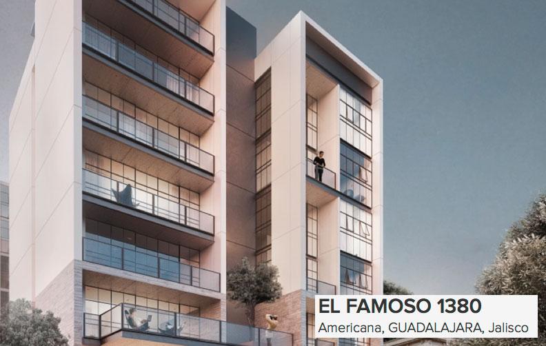 El Famoso towere in Guadalajara. Apartments for sale.