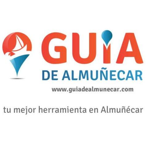 Logotipo Guía de Almuñécar 500x500 píxeles con dominio de internet y eslogan.