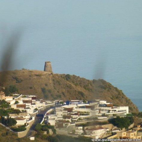 Visión desde las montañas de la Torre del Diablo, Barranco de Enmedio, Almuñécar.