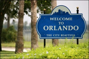 Orlando, Florida, USA.  29 July 2005   General view of the Welcome to Orlando sign.   ( photo credit should read :  MIKE SHARP )