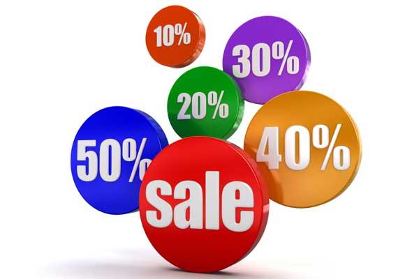 porcentajes sales