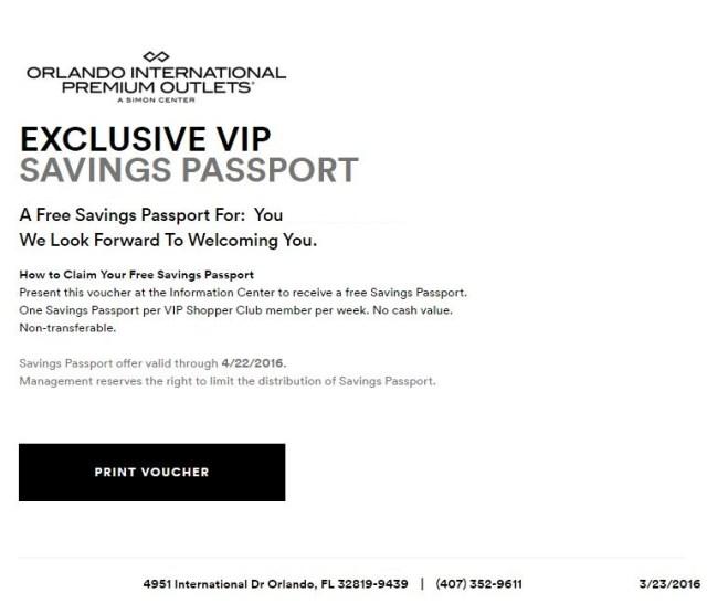 orlando international premium outlet abril 22