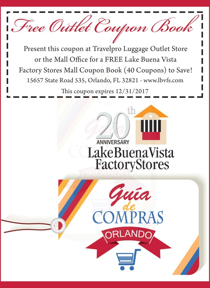 LAKE BUENA VISTA FACTORY.cuponera exclusiva