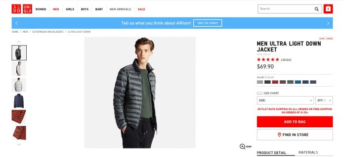 Uniqlo MEN ULTRA LIGHT DOWN JACKET