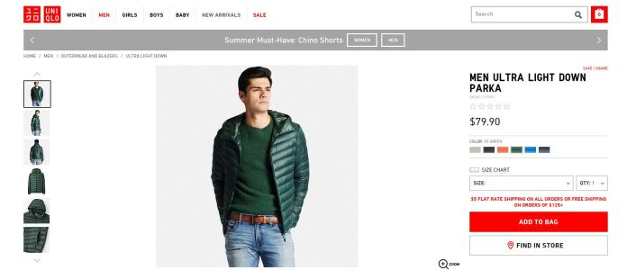 Uniqlo MEN ULTRA LIGHT DOWN JACKET2