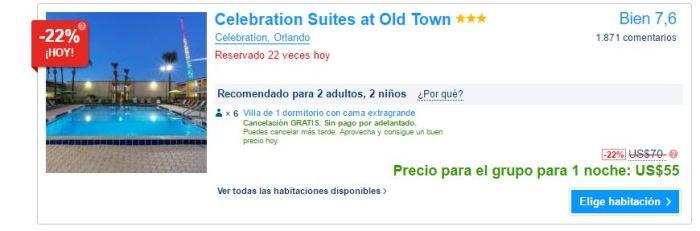 Celebration Suites precio