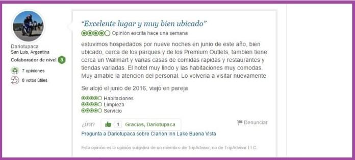 Clarion Inn Lake Buena Vista Opiniones Viajeros 5