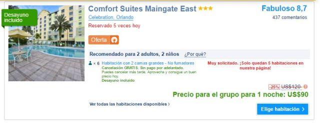 Comfort Suites Maingate East precio.JPG