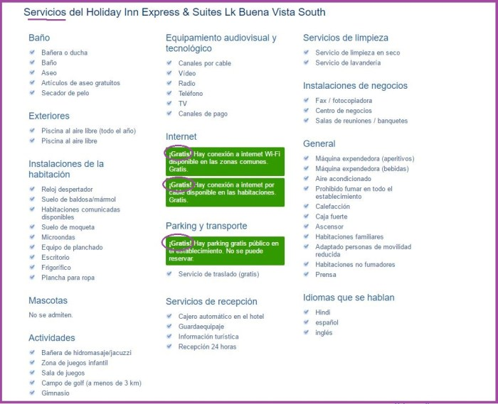 Holiday Inn Express & Suites Lk Buena Vista South Instalaciones