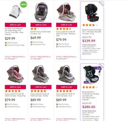 Infant car seat babies r us