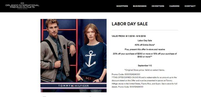 labor day sale tommy international premium