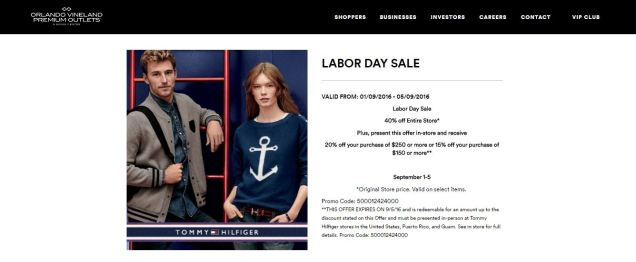 labor day sale tommy vineland