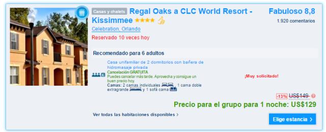 Regal Oaks a CLC World Resort - Kissimmee precio.PNG
