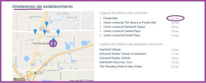 The Florida Hotel & Conference Center mapa.JPG