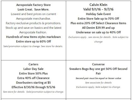 Deals Lake Buena Vista Factory Store Septiembre 01