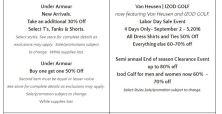 Deals Lake Buena Vista Factory Store Septiembre 09
