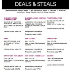 Deals Orlando International Premium Outlet Septiembre 03