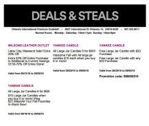 Deals Orlando International Premium Outlet Septiembre 11